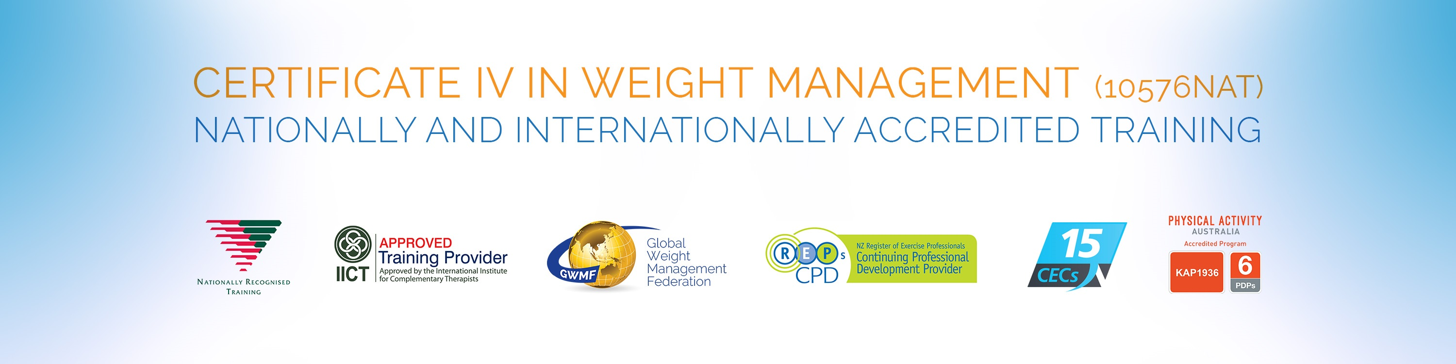 Certificate Iv in Weight Management - Nationally Accredited Training